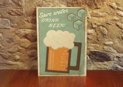 Egyedi grafika poszter sör