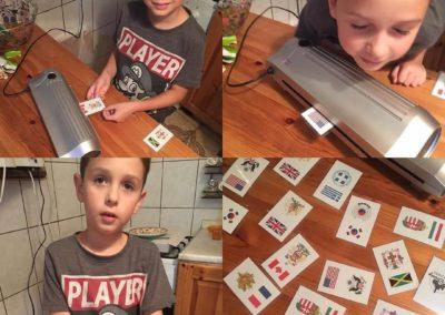 Egyedi grafika TéJé Grafika Máté kártyája