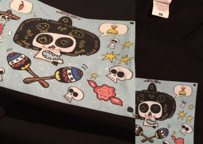 Egyedi grafika TéJé Grafika mexicoi póló