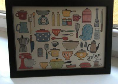 Egyedi grafika TéJé Grafika konyhai eszközök