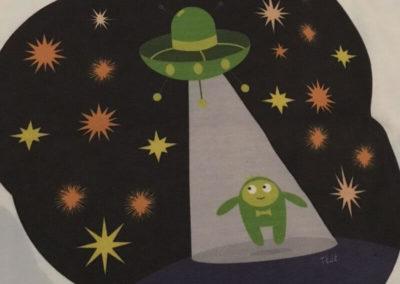 Egyedi grafika TéJé Grafika UFO póló