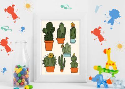 Egyedi grafika kaktusz