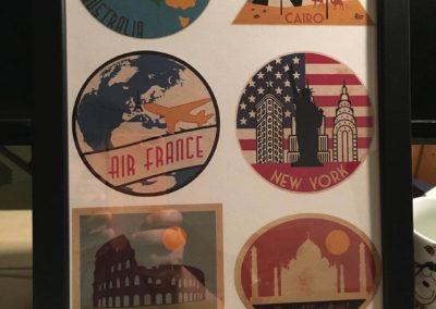 Egyedi grafika TéJé Grafika utazós címkék