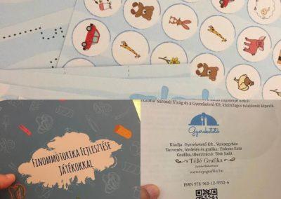 Egyedi grafika TéJé Grafika Gyereketető fejlesztő munkafüzet