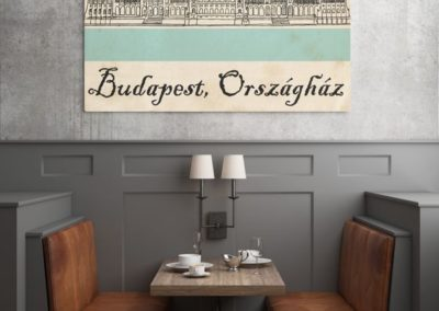 Egyedi grafika poszter Budapest