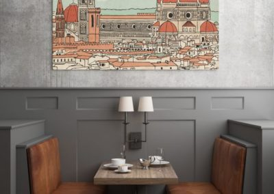 Egyedi grafika poszter Firenze