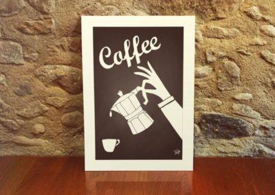 Egyedi grafika poszter kávé