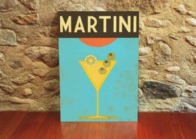 Egyedi grafika poszter Martini