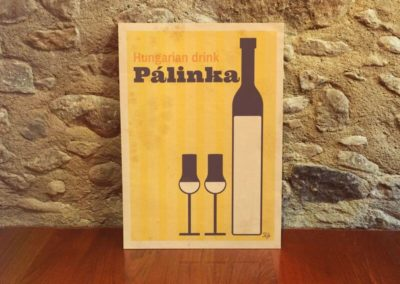 Egyedi grafika poszter Palinka