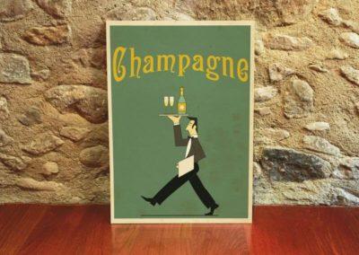 Egyedi grafika poszter Champagne