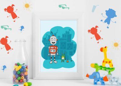 Egyedi grafika robotos nem csak gyerekeknek