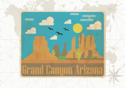 Utazás egyedi grafika - Arizona
