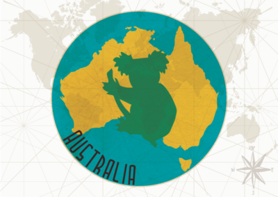 Utazás egyedi grafika - Australia