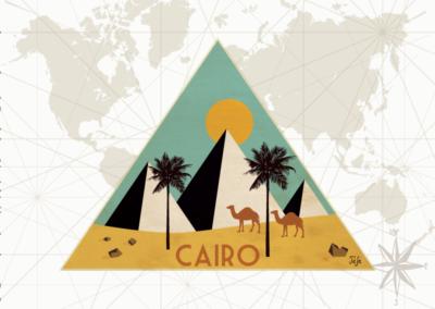 Utazás egyedi grafika - Cairo
