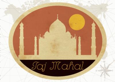 Utazás egyedi grafika India