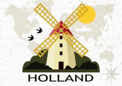 Utazás egyedi grafika - Holland