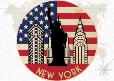 Utazás egyedi grafika - New York