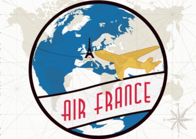 Utazás egyedi grafika Parizs