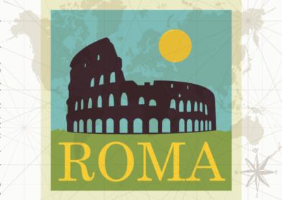 Utazás egyedi grafika - Róma