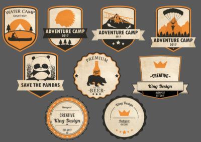 Egyedi grafika vintage badge és logó design