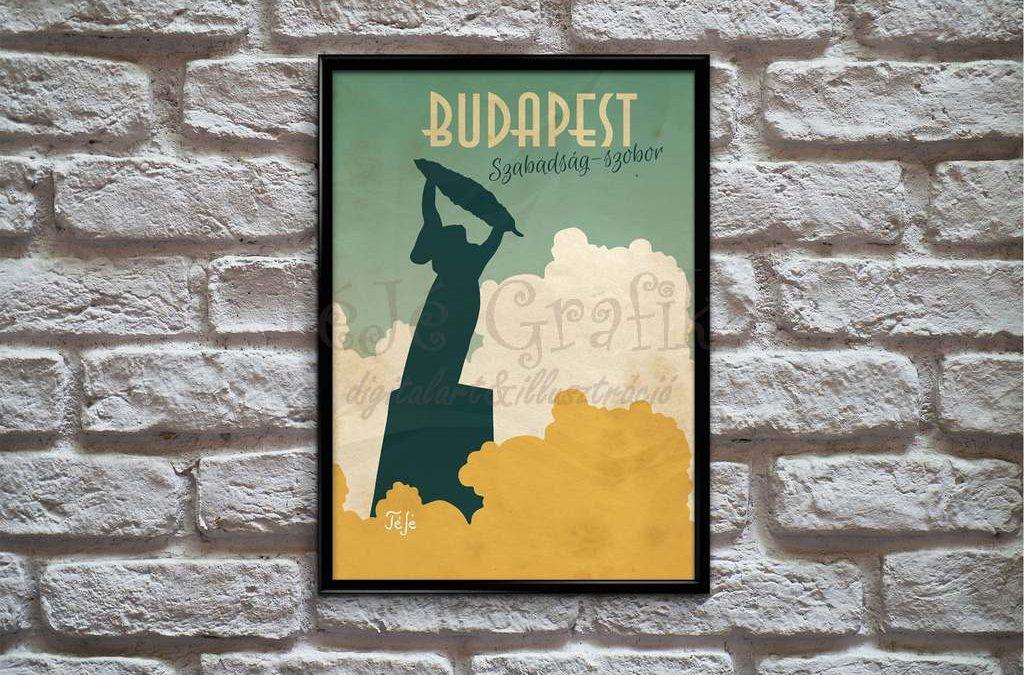 Mi ihlette a Budapesti Szabadság-szobor grafikám?