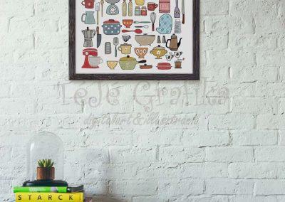 Vintage poszter konyha