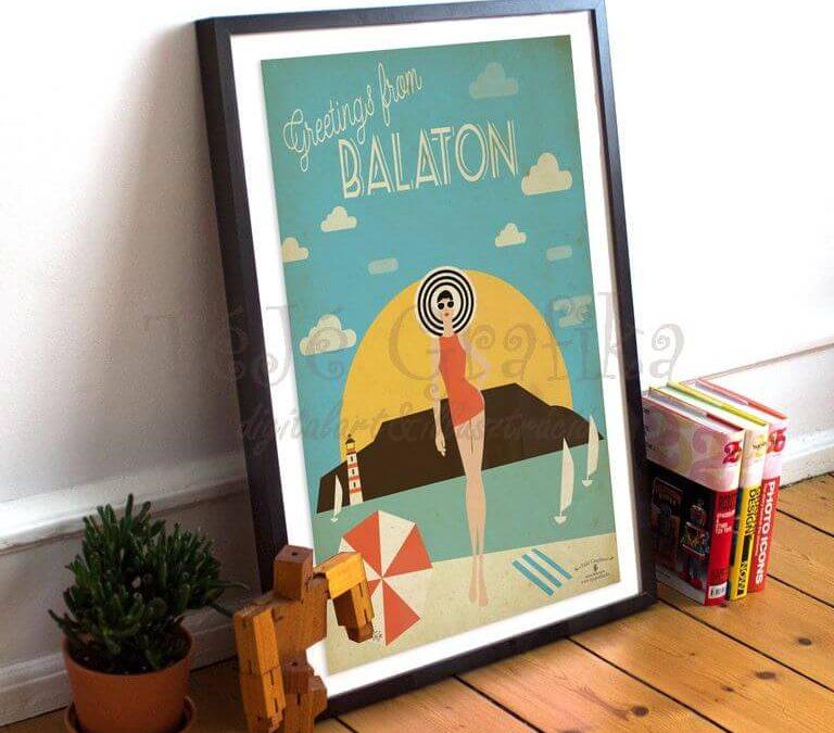 Balatoni ajándéktárgyak, balatoni retrós képek, balatoni retrós reklámok, plakátok