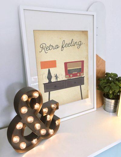 retro falikép, falidekor, plakát, ajándékötlet