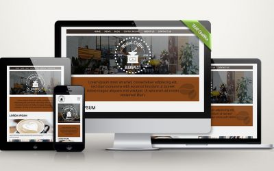 Ilyen lépésekből áll egy kávézós weboldal kezdőlapjának, logójának a tervezése
